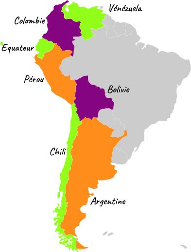 carte Amérique du Sud FR